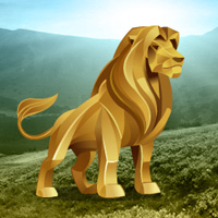 Free online flash games - Big Gold Lion Land Escape