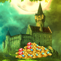 Free online flash games - Big Treasure Castle Escape