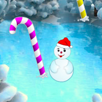 Free online flash games - Christmas Candy Cane Forest Escape
