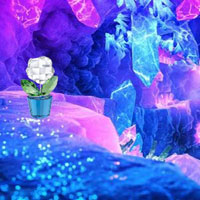 Free online flash games - Fantasy Crystal Cluster Escape