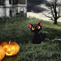 Free online flash games - Halloween Cemetery Castle Escape