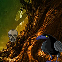 Free online flash games - Halloween Crow Forest Escape