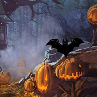 Free online html5 games - Halloween Pumpkin Haunted Forest Escape game - WowEscape
