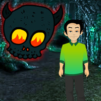 Free online flash games - Little Boy Ghost Forest Escape