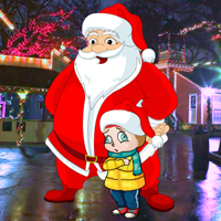 Free online flash games - Magical Santa Little Girl Rescue
