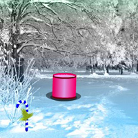 Free online flash games - Magical Winter Christmas Forest Escape