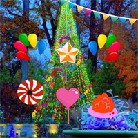 Free online flash games - New Year Party Garden Escape