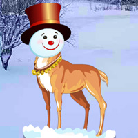 Free online flash games - Snow Head Reindeer Forest