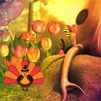 Free online flash games - Thanksgiving Turkey Fairy Escape