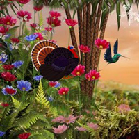Free online flash games - Thanksgiving Party Forest Escape
