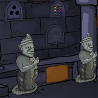 Free online flash games - Cursed Statue Fort Escape