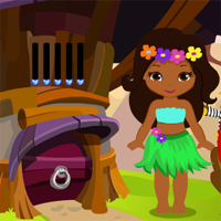 Games4King Cute Hawaiian Dancer Girl Rescue