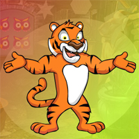 Free online flash games - Games4King Mighty Tiger Escape