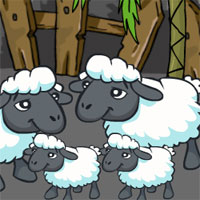 Free online flash games - Games2Jolly Sheep Family Rescue