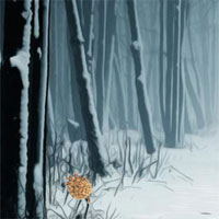 Free online flash games - Full Moon Winter Forest Escape