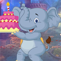 Free online flash games - G4K Birthday Elephant Escape