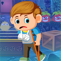 Free online flash games - G4K Crutches Boy Rescue