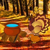 Free online flash games - Turkey Forest Return Escape