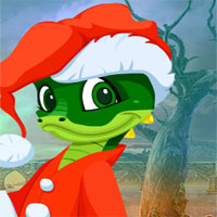 Free online flash games - G4k Christmas Crocodile Escape