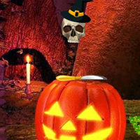 Free online flash games - Golden Halloween Pumpkin Escape