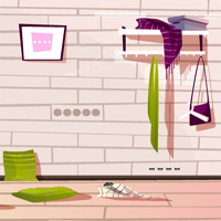 Free online flash games - Hallway Messy Room Escape