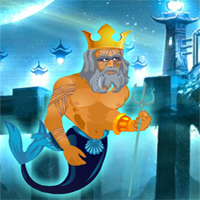 Free online flash games - Poseidon Save Underwater World