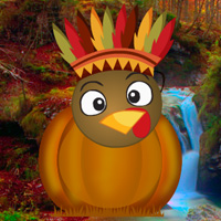 Free online flash games - Turkey Emoji Forest Escape