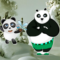 Free online flash games - Panda Snow Forest Escape