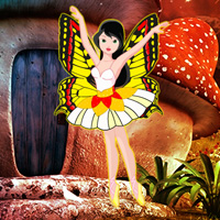 Free online flash games - Mushroom Forest Butterfly Girl Escape