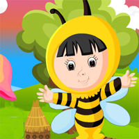 Games4King Cute Bee Girl Rescue
