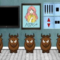 Free online html5 escape games - 8bgame Ferdinand The Bull Escape