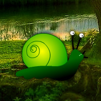 Free online flash games - Green Snail Forest Escape