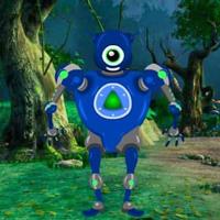 Free online html5 escape games -  Corrupted Robot Forest Escape HTML5