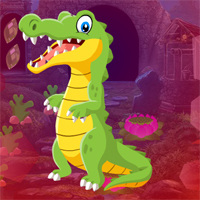 Free online flash games - Games4King Pretty Crocodile Rescue