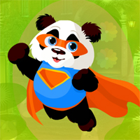 Free online flash games - Games4King Superman Panda Escape
