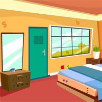 Free online flash games - GenieFunGames Single Bed Room Escape