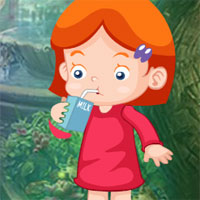 Free online flash games - G4K Milk Drinking Girl Escape