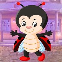 Free online flash games - Games4King Little Beetle Girl Escape