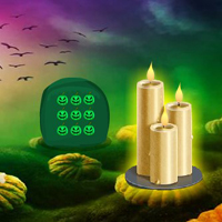 Free online flash games - Cursed Candle Forest Escape