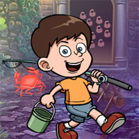 Free online flash games - G4K Fishing Boy Rescue
