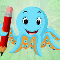 Free online flash games - G4K Blue Octopus Escape